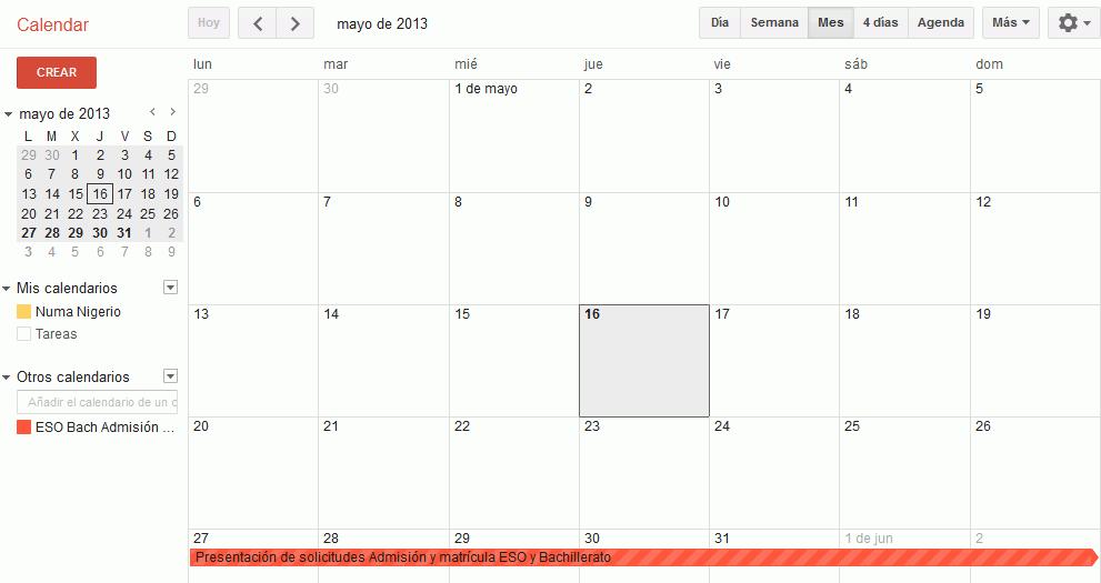 Anadir Calendario.Otros Calendarios Calendar Google Apps Bartolome Sintes Marco