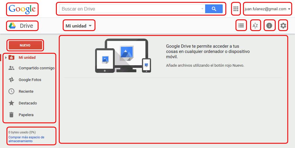 Entrar En Google Drive E Interfaz Google Drive Google