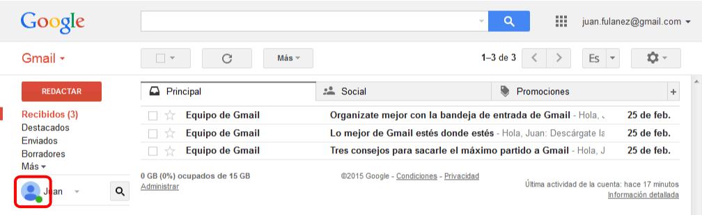 Foto del perfil de usuario. Gmail. Google Apps. Bartolomé Sintes Marco